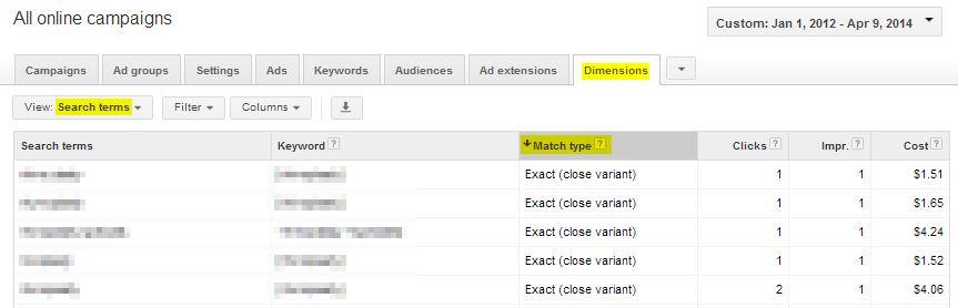 google-close-variant-keywords