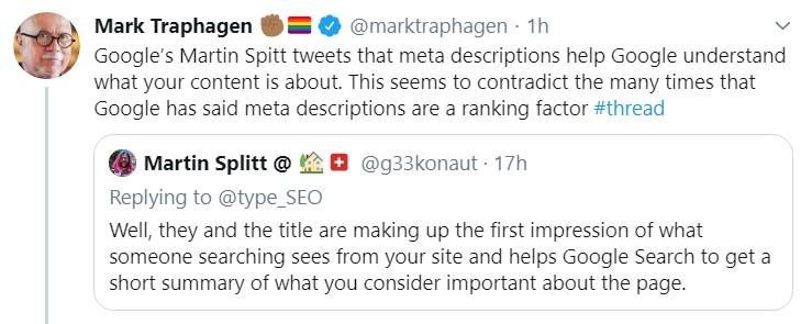 Mark Traphagen tweet about context clues
